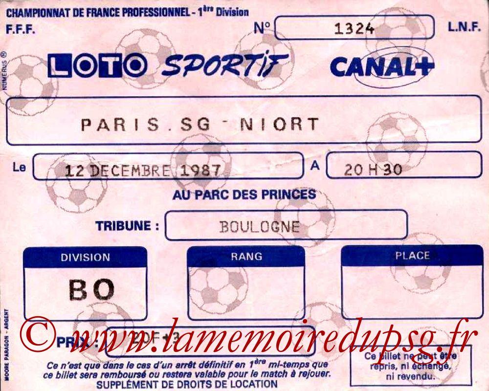 1987-12-12  PSG-Niort (23ème D1)