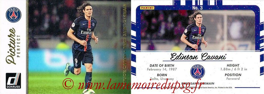2016 - Panini Donruss Cards - N° PP03 - Edinson CAVANI (Paris Saint-Germain) (Picture Perfect)