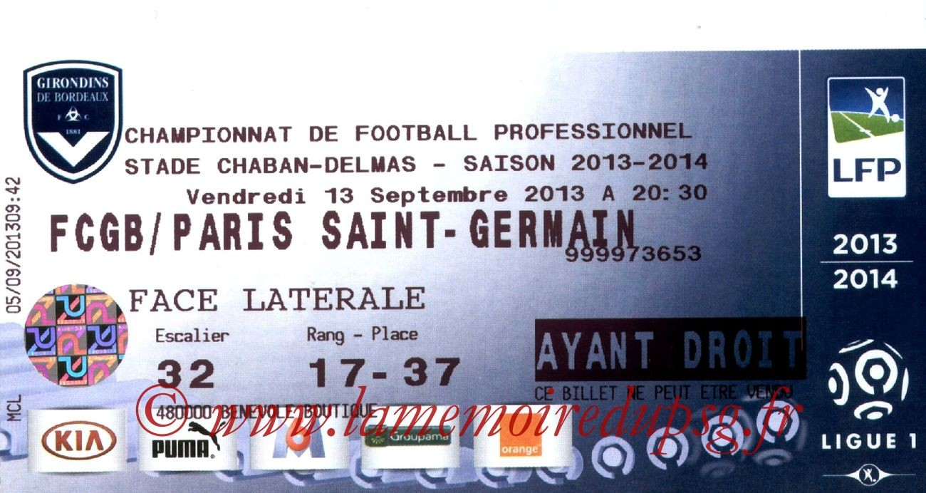 2013-09-13  Bordeaux-PSG (5ème L1)