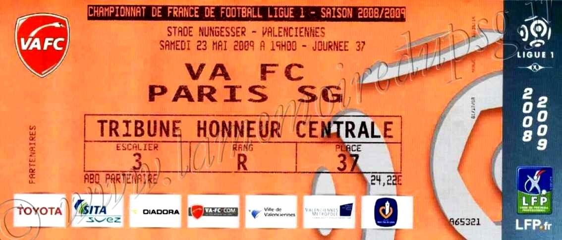 2009-05-23  Valenciennes-PSG (37ème L1)