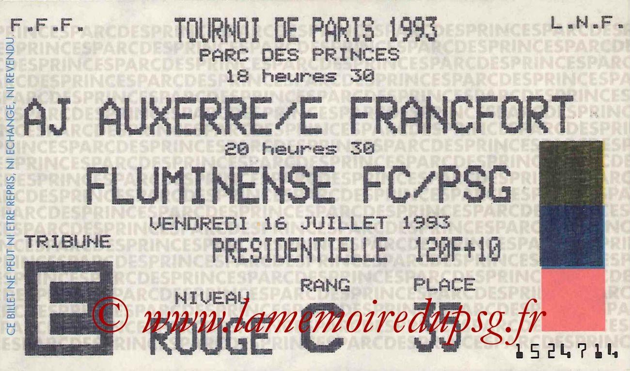 1993-07-16  PSG-Fluminense (Demi-Finale 29ème Tournoi de Paris)