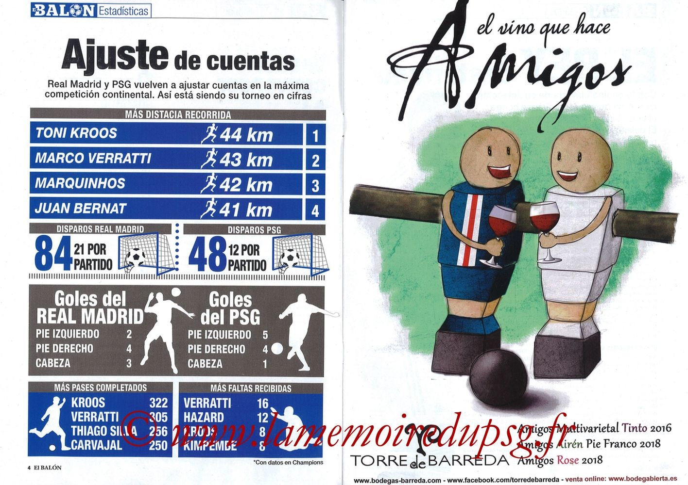 2019-11-26  Real Madrid-PSG (5ème C1, El Balon in the Game N°74) - Pages 04 et 05