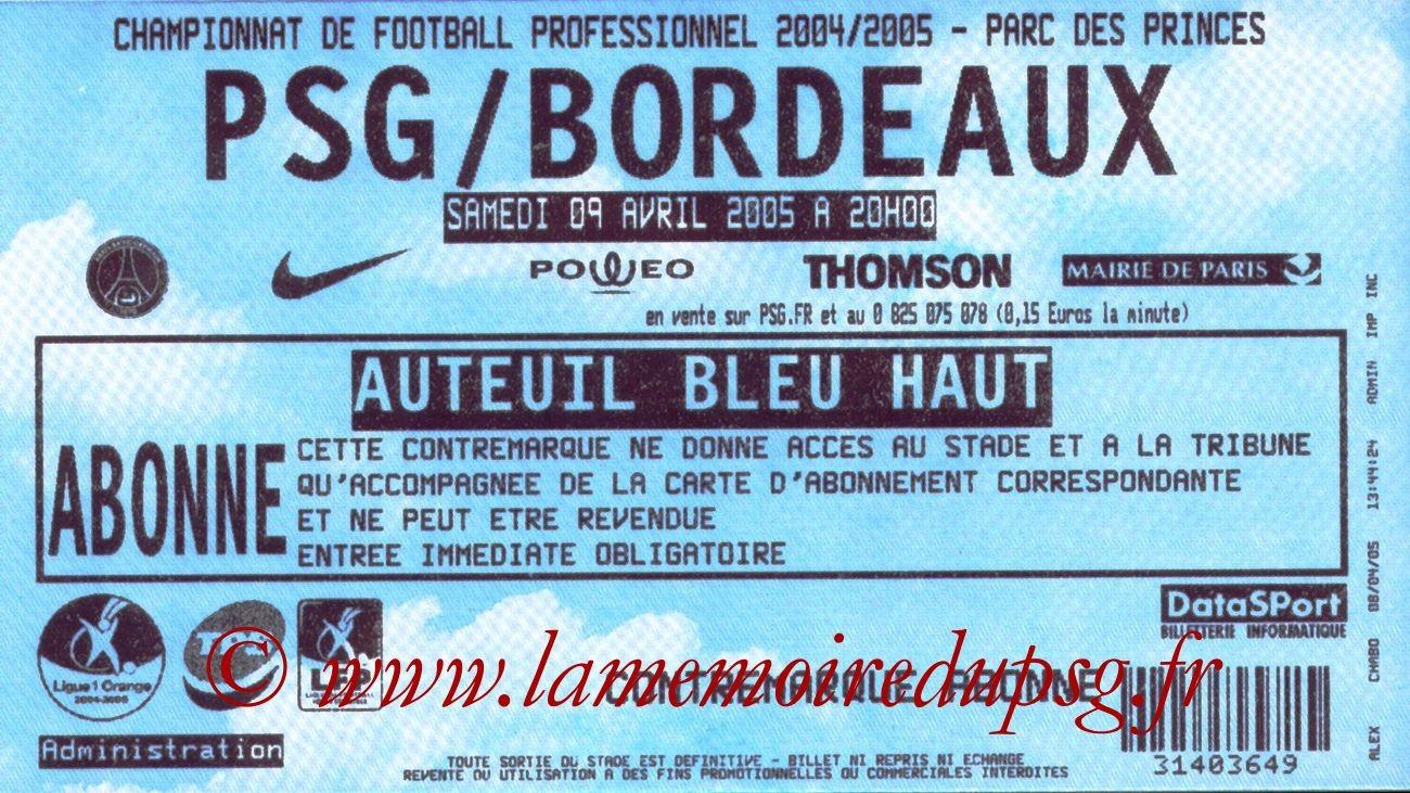 2005-04-09  PSG-Bordeaux (32ème L1)