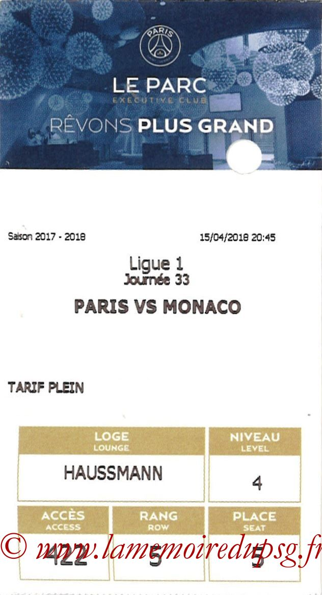 2018-04-15  PSG-Monaco (33ème L1, E-ticket Executive Club)