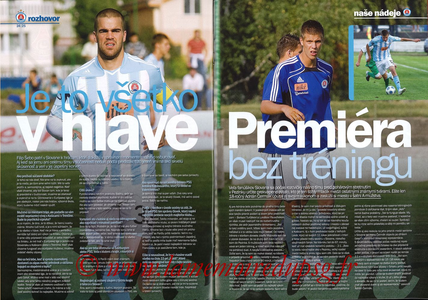2011-10-20  Slovan Bratislava-PSG (3ème C3, Slovan N°4) - Pages 24 et 25