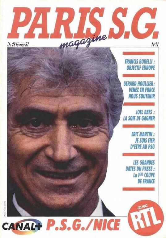 1987-02-28  PSG-Nice (24ème D1, Paris SG Magazine N°14)