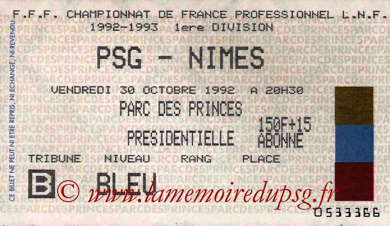 1992-10-30  PSG-Nimes (13ème D1)