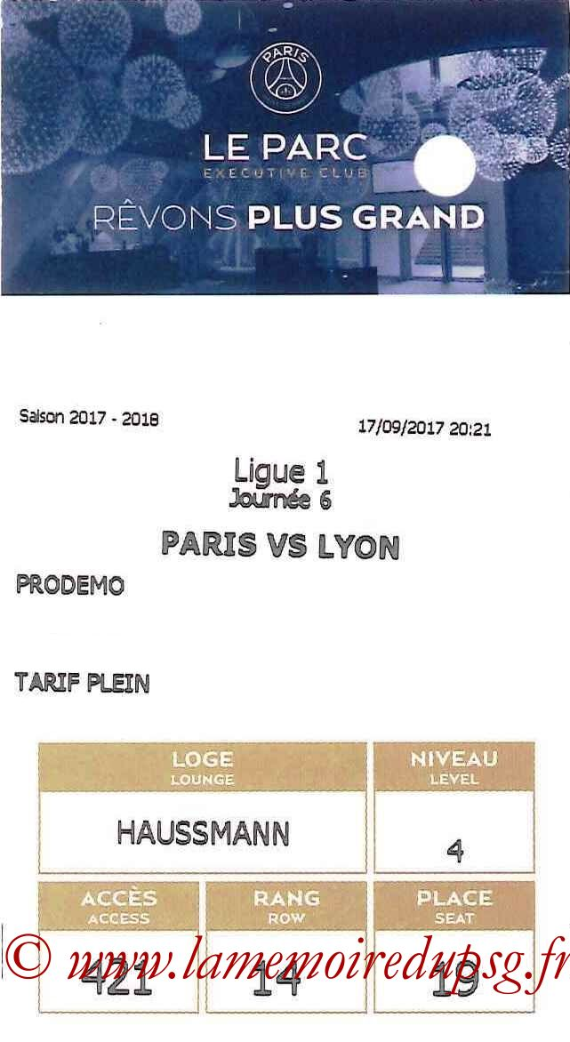 2017-09-17  PSG-Lyon (6ème L1, E-ticket Executive Club)