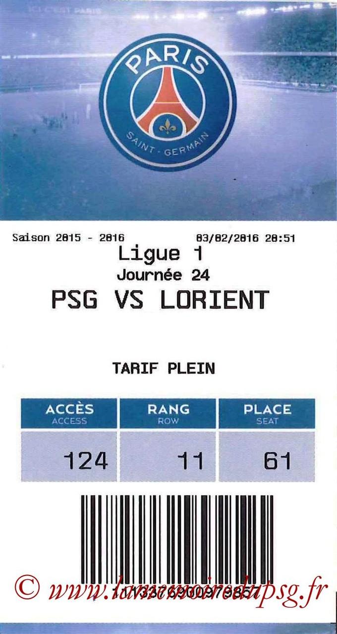 2016-02-03  PSG-Lorient (24ème L1, E-ticket)