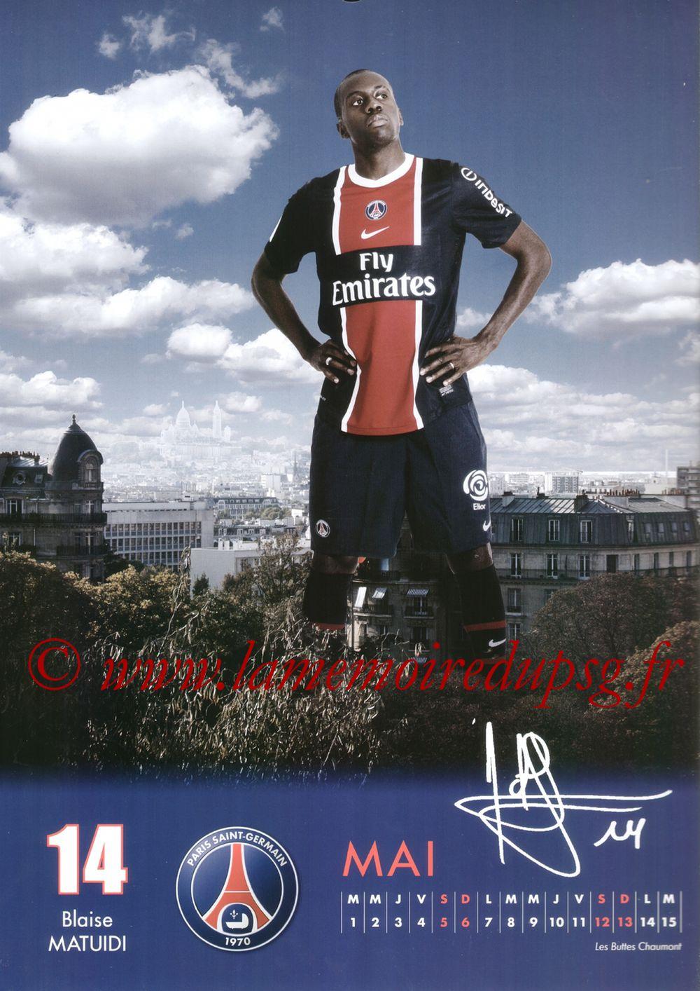 Calendrier PSG 2012 - Page 09 - Blaise MATUIDI
