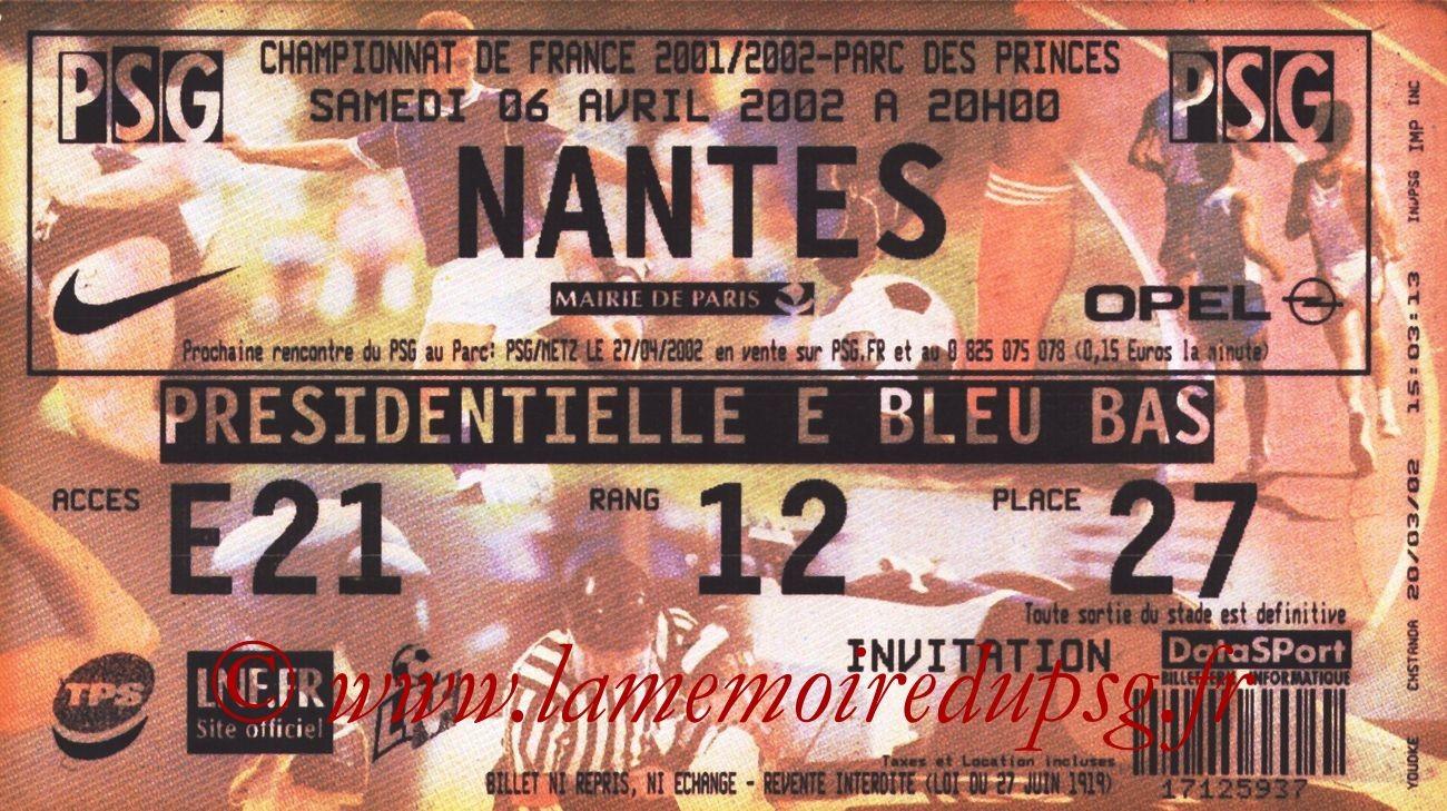 2002-04-06  PSG-Nantes (31ème D1)