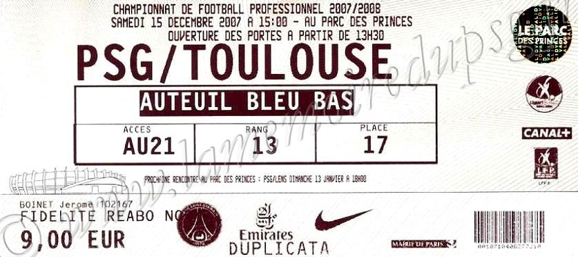 2007-12-15  PSG-Toulouse (18ème L1)
