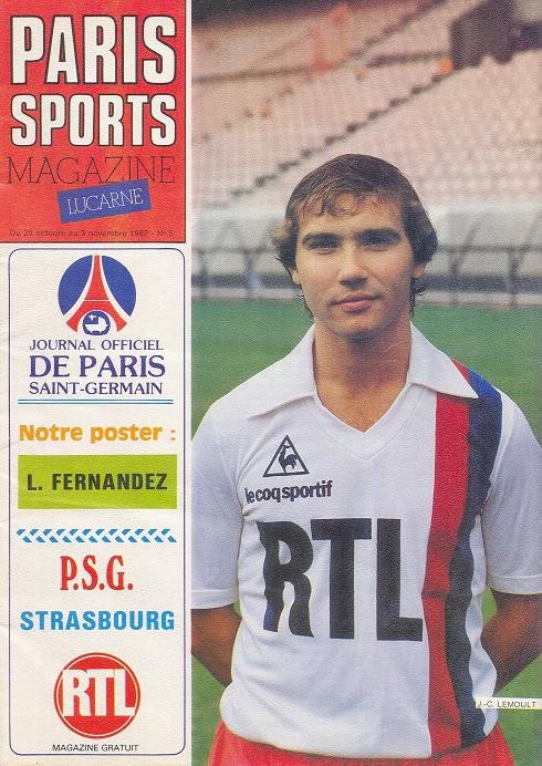1982-10-26  PSG-Strasbourg (12ème D1, Paris Sports Magazine N°5)
