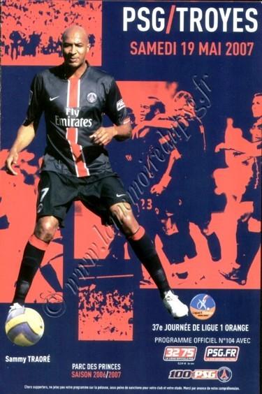 2007-05-19  PSG-Troyes (37ème L1, Officiel N°104)
