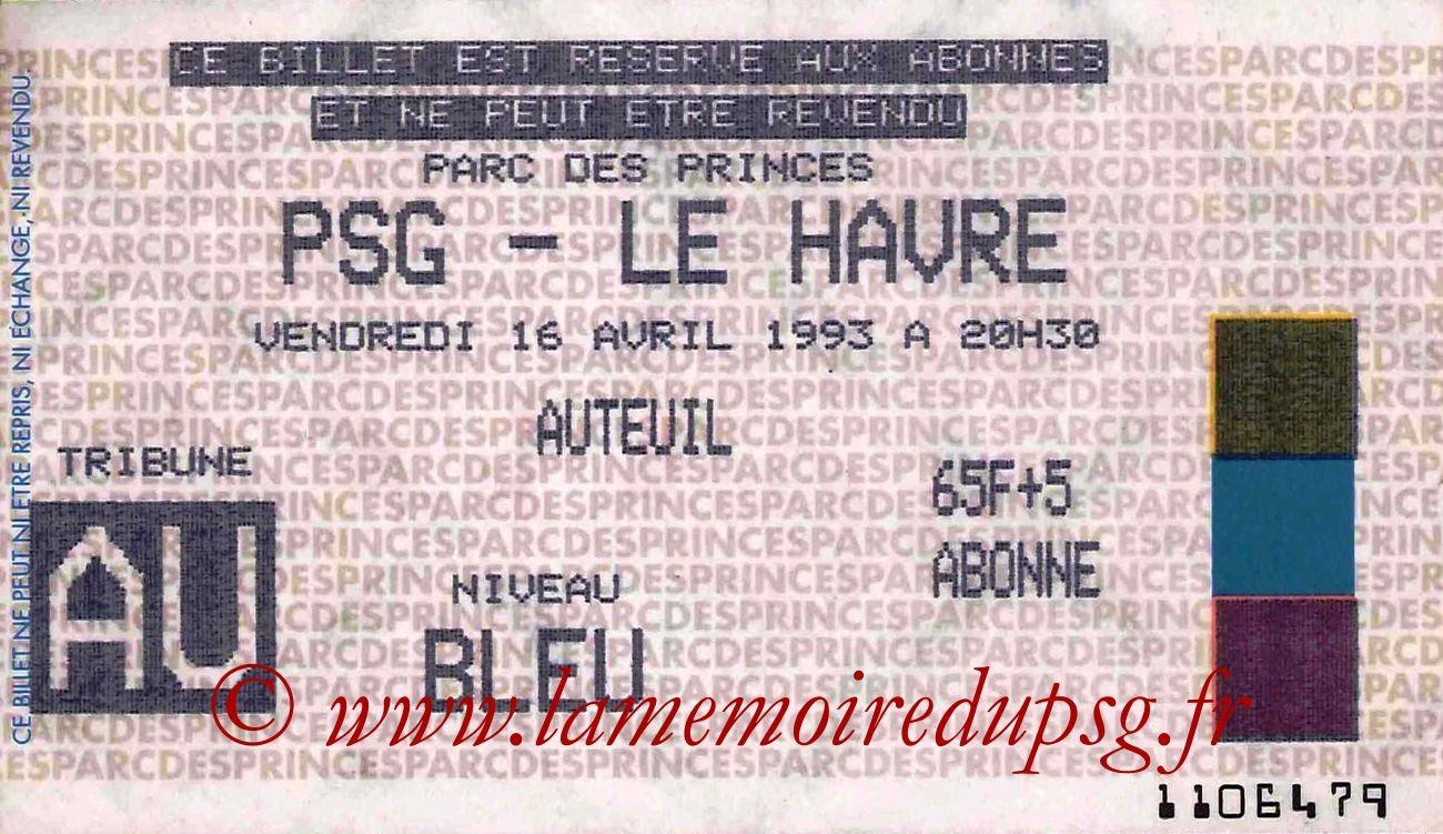 1993-04-14  PSG-Le Havre (32ème D1)