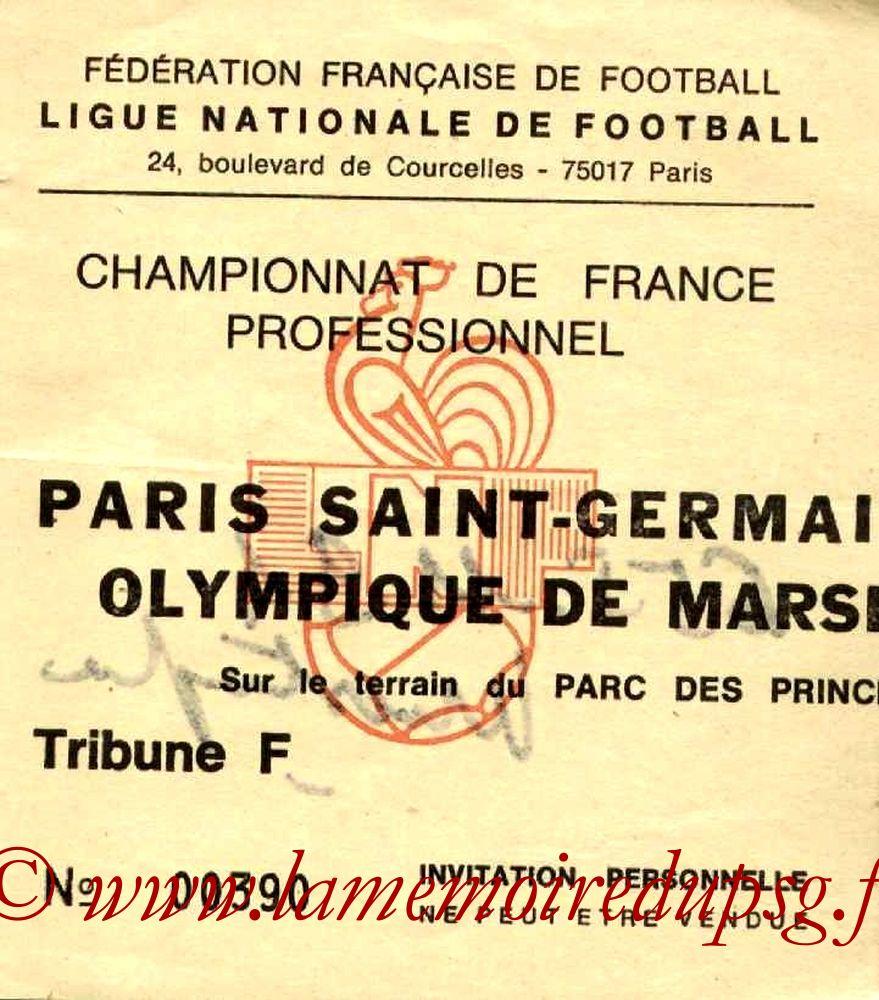 1984-09-08  PSG-Marseille (6ème D1, Invitation)
