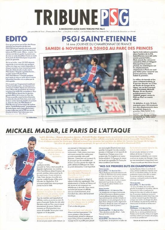 1999-11-06  PSG-Saint Etienne (14ème D1, Tribune PSG N°5)