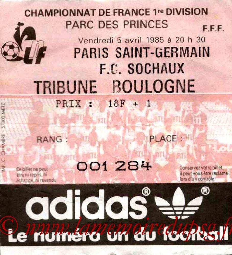 1985-04-05  PSG-Sochaux (31ème D1)