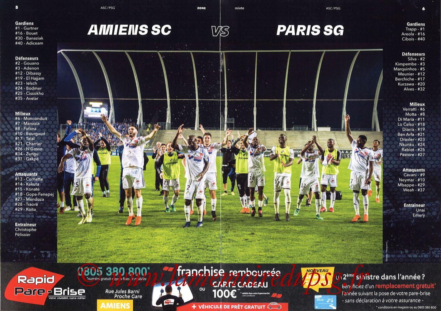 2018-05-04  Amiens-PSG (36ème L1, Zone Mixte N°13) - Pages 06 et 07