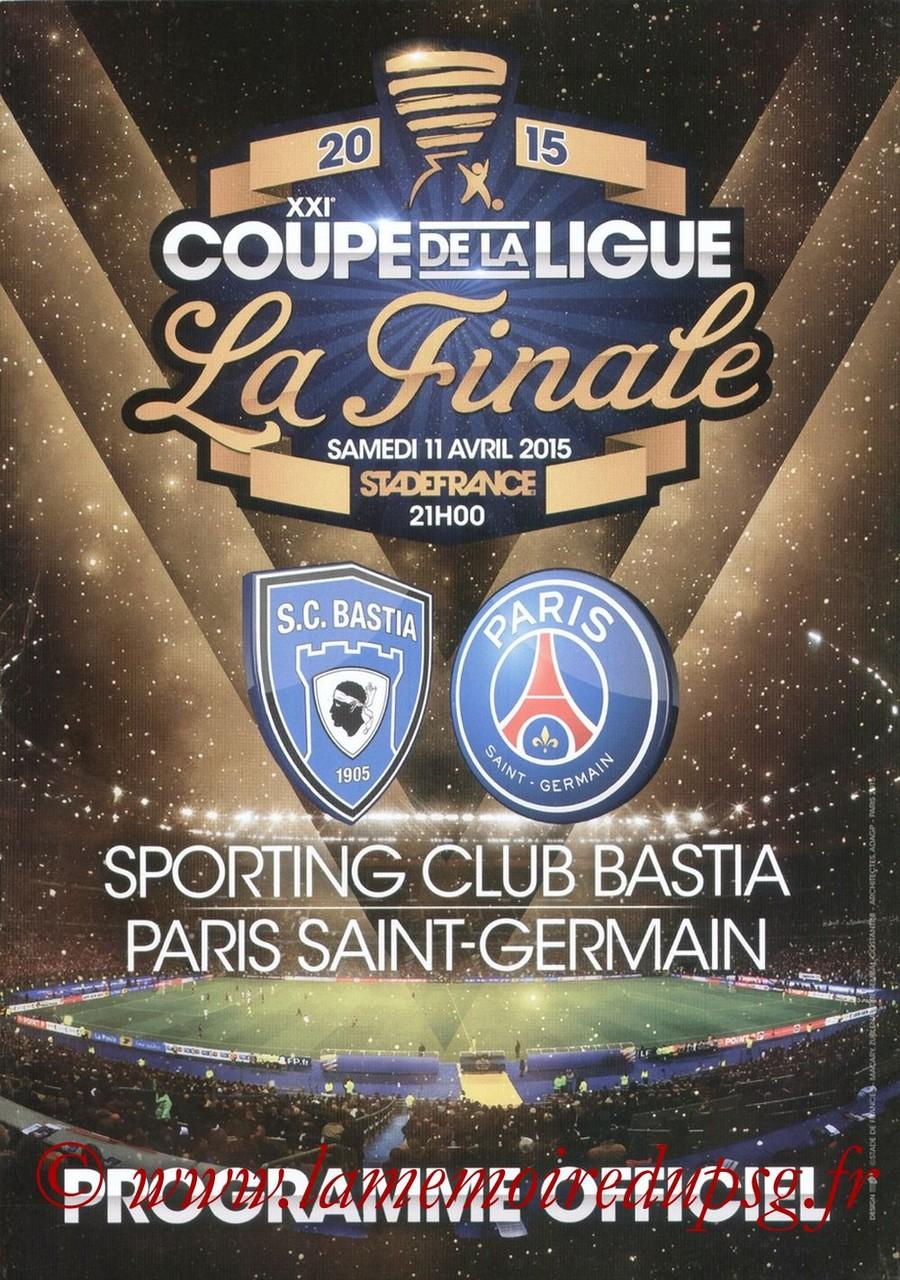 2015-04-11  Bastia-PSG (Finale CL à Saint-Denis, Dossier de presse)