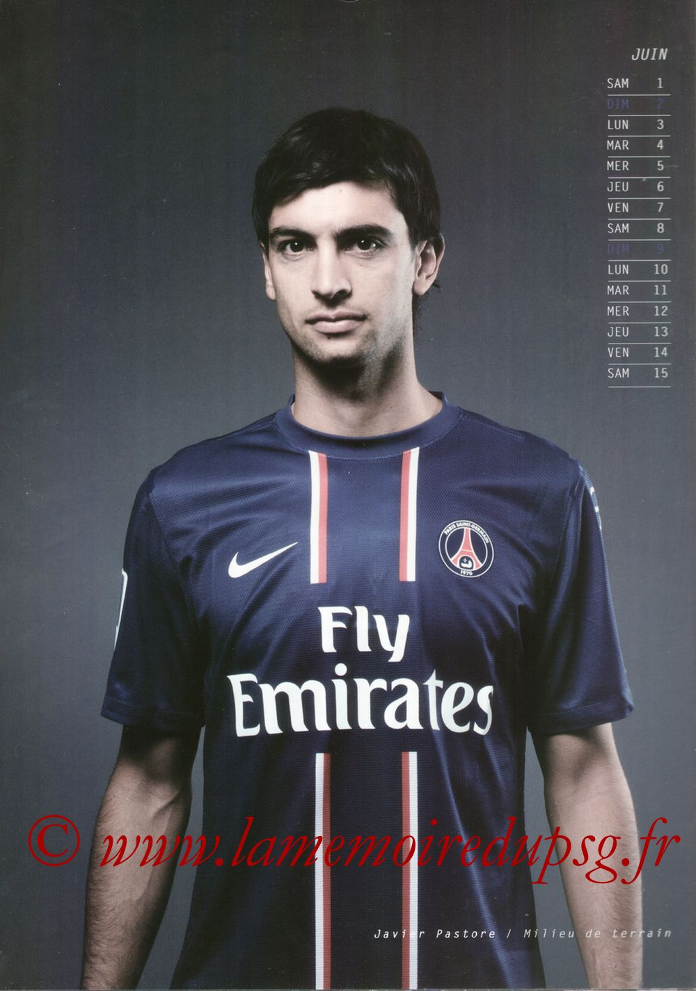 Calendrier PSG 2013 - Page 11 - Javier PASTORE