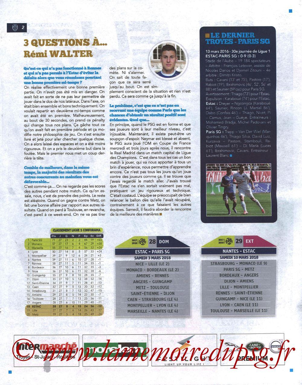 2018-03-03  Troyes-PSG (28ème L1, Bleu et Blanc N°15) - Page 02