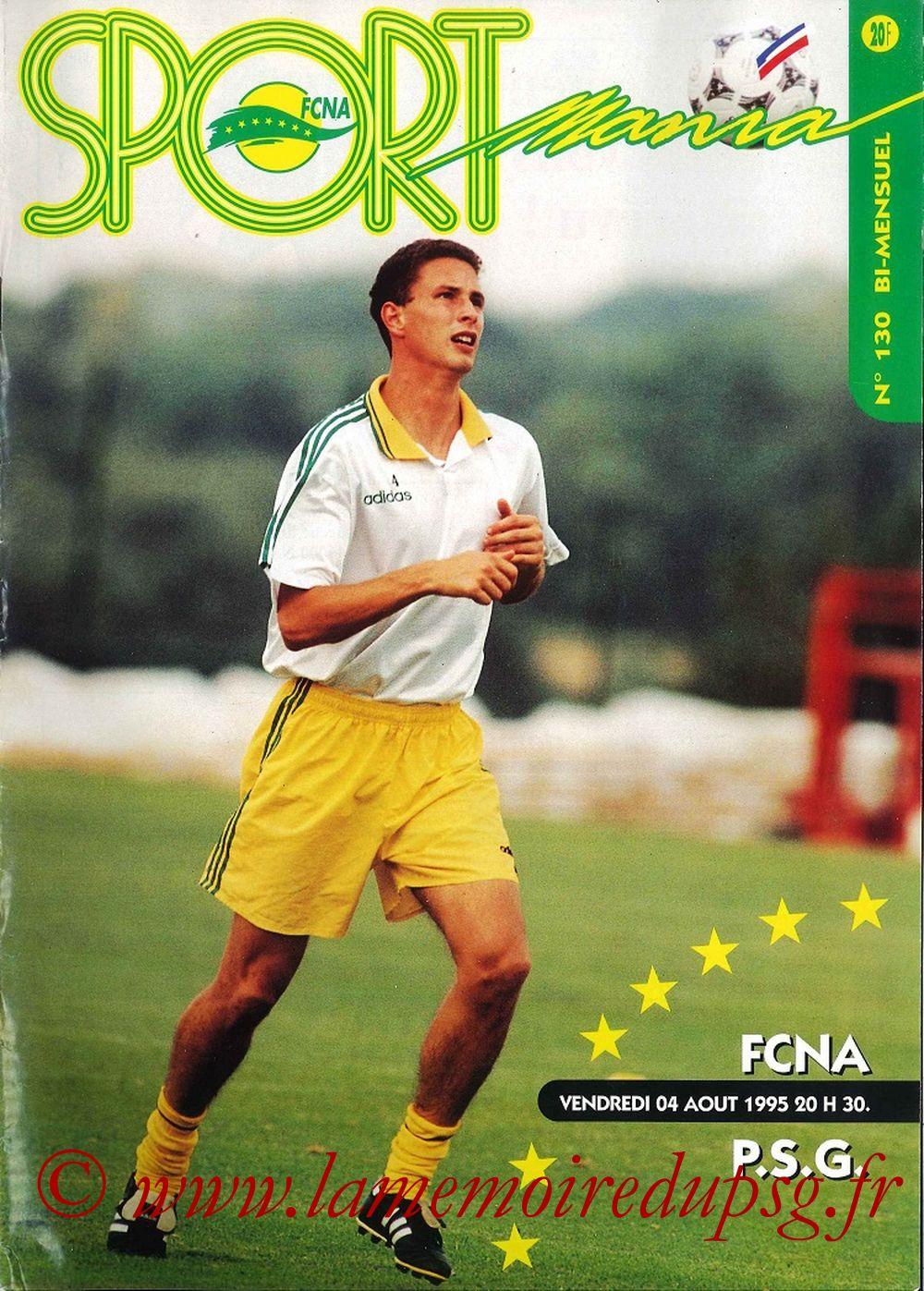 1995-08-04  Nantes-PSG (3ème D1, Sportmania N°130)