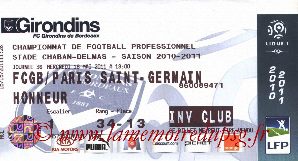 2011-05-18  Bordeaux-PSG (36ème L1)