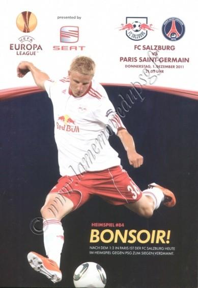 2011-12-01  FC Salzburg-PSG (5ème poule C3, Programme officiel)
