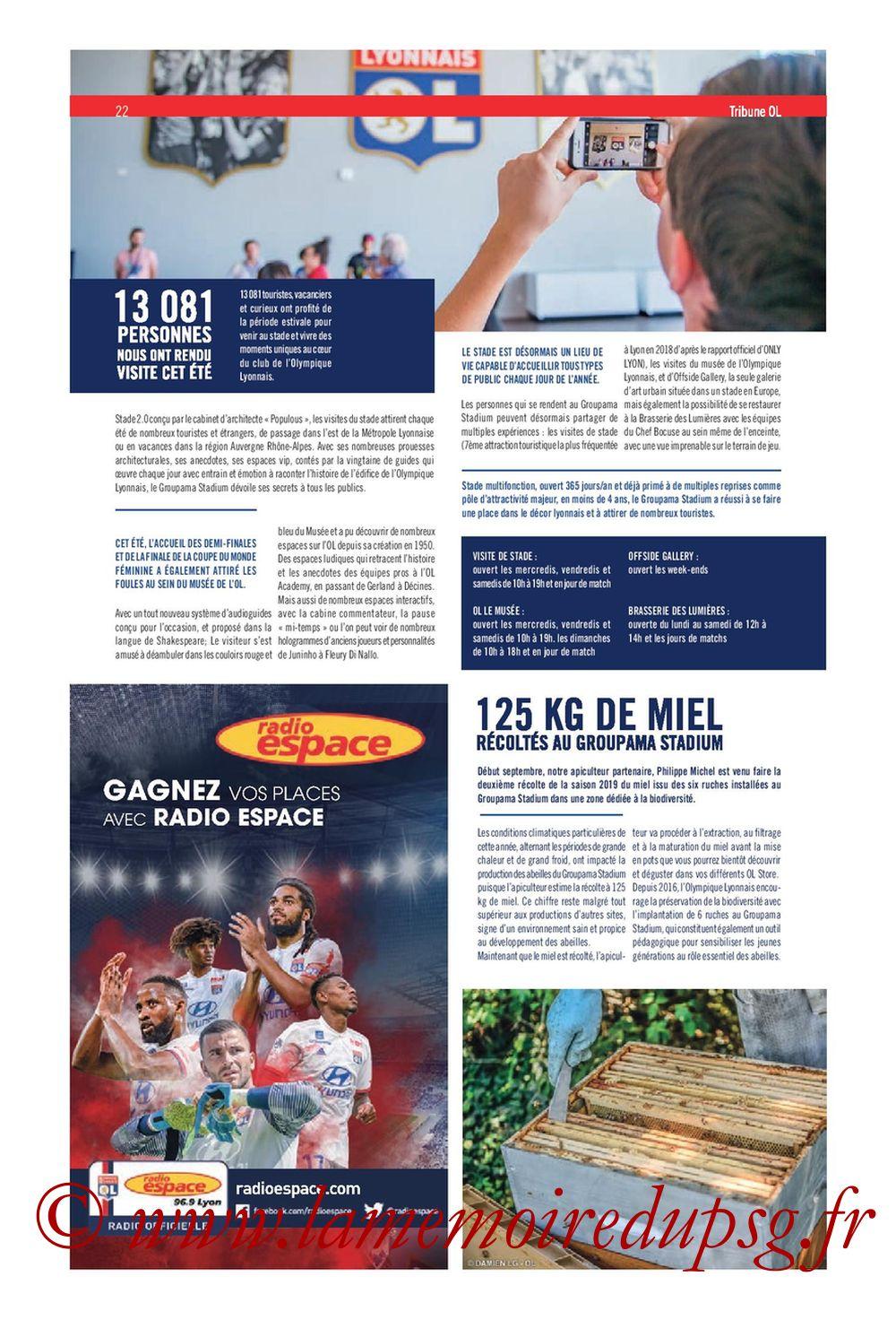 2019-09-22  Lyon-PSG (6ème L1, Tribune OL N°284) - Page 22