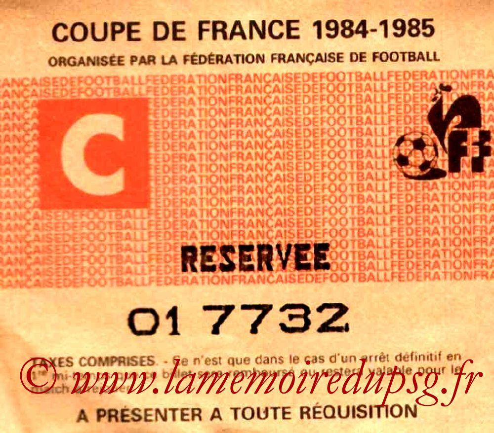 1985-04-09  Nancy-PSG (8ème Finale Aller CF, Sans nom)