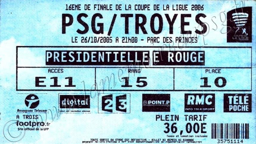 2005-10-26  PSG-Troyes (16ème Finale CL, bis)