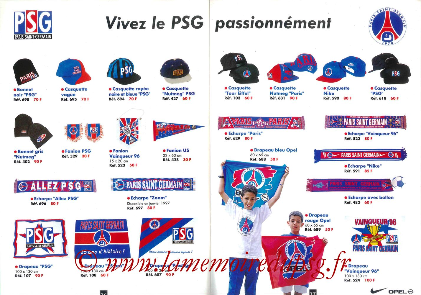 Catalogue PSG - 1996-97 - Pages 16 et 17
