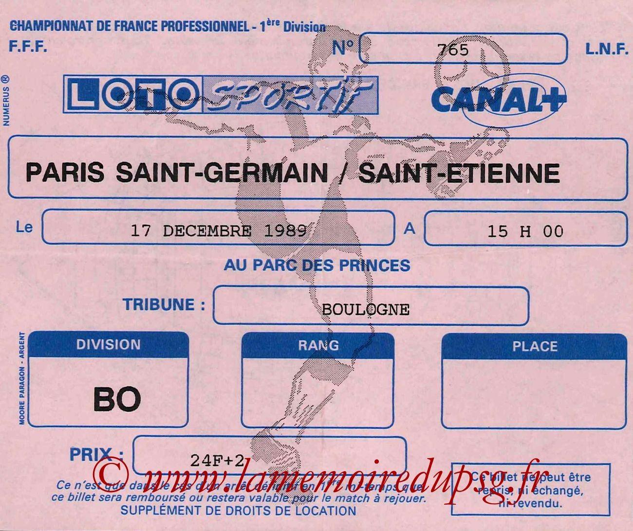 1989-12-17  PSG-Saint Etienne (23ème D1)