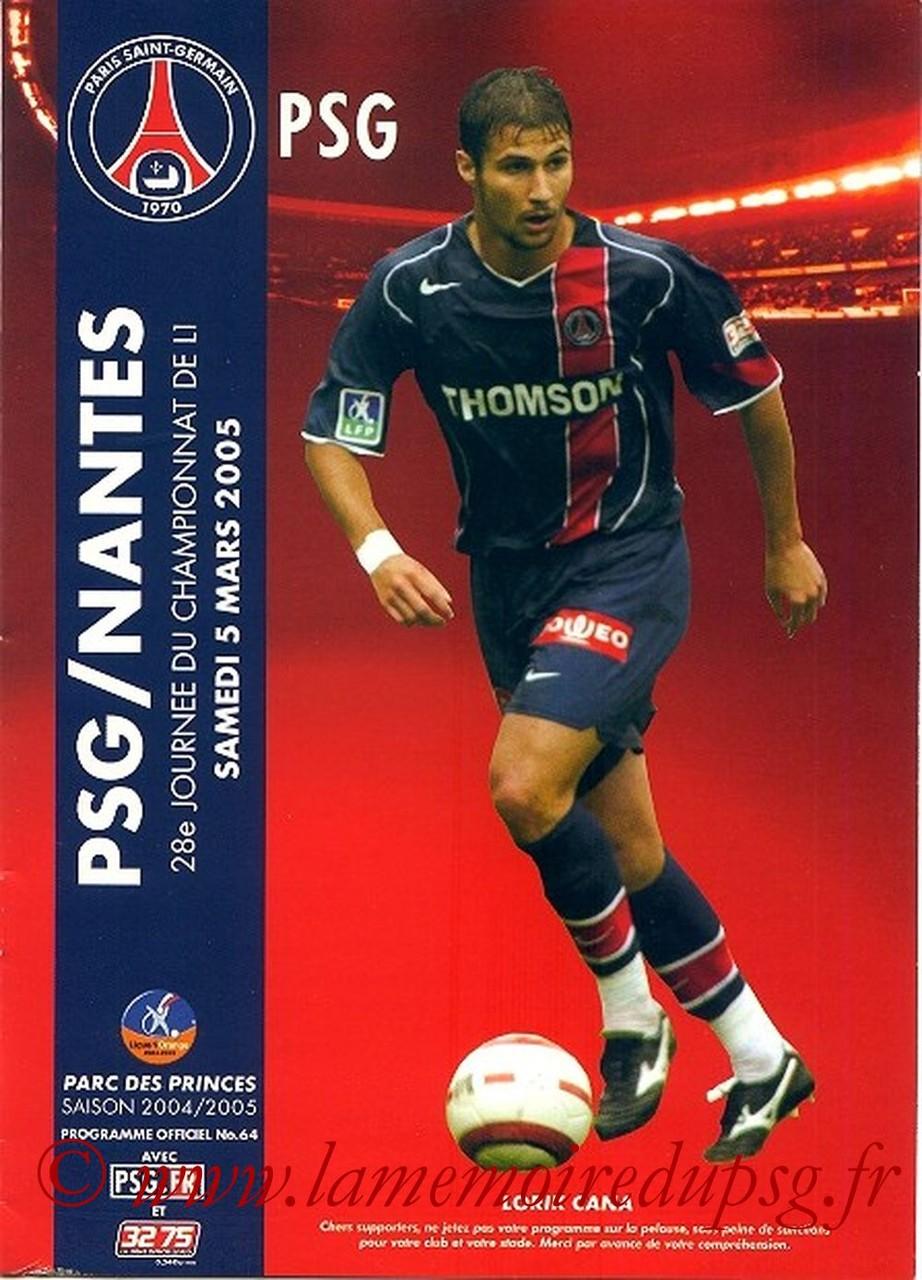 2005-03-05  PSG-Nantes (28ème L1, Officiel N°64)