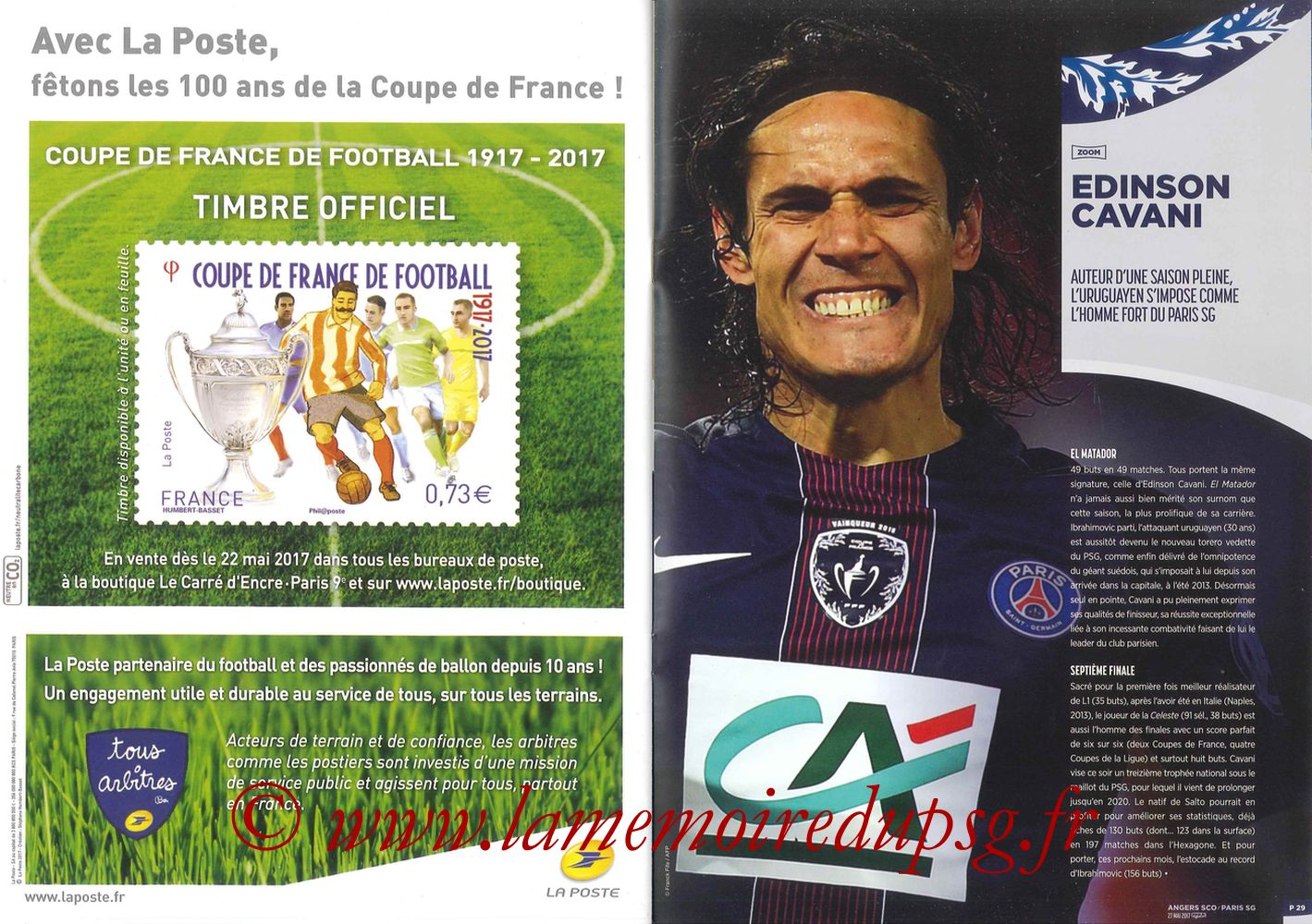2017-05-27  Angers-PSG (Finale CF à Saint-Denis, Programme officiel) - Pages 28 et 29