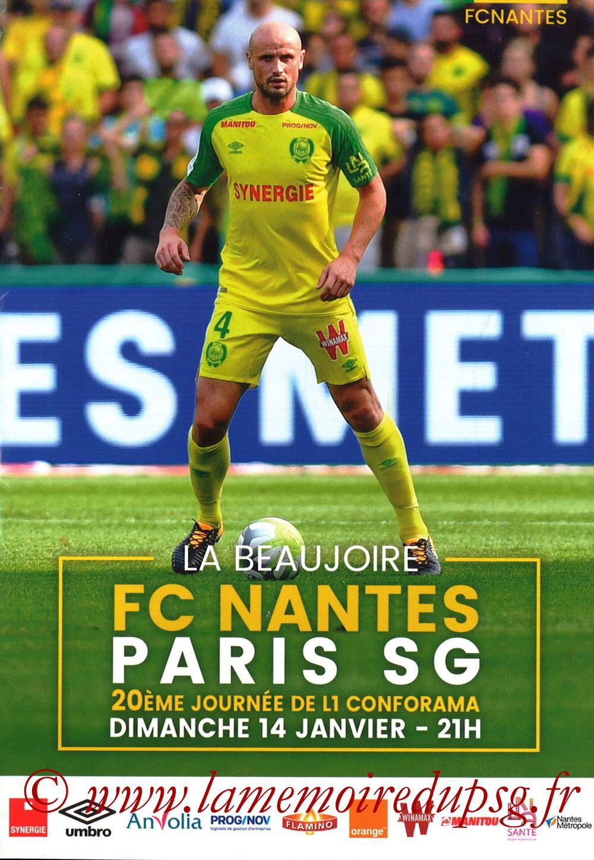 2018-01-14  Nantes-PSG (20ème L1, Programme officiel)