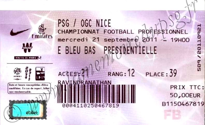 2011-09-21  PSG-Nice (7ème L1, Billetel)