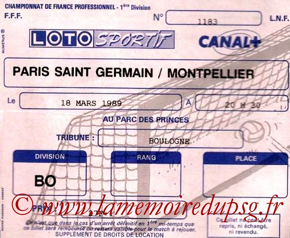 1989-03-18  PSG-Montpellier (30ème D1)