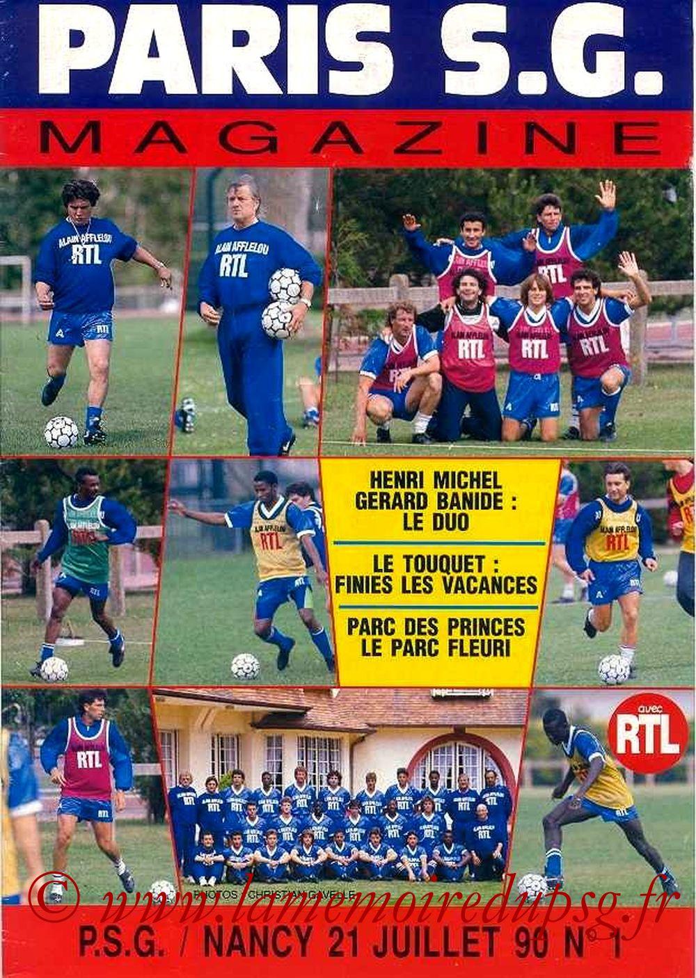 1990-07-21  PSG-Nancy (1ère D1, Paris SG Magazine N°1)