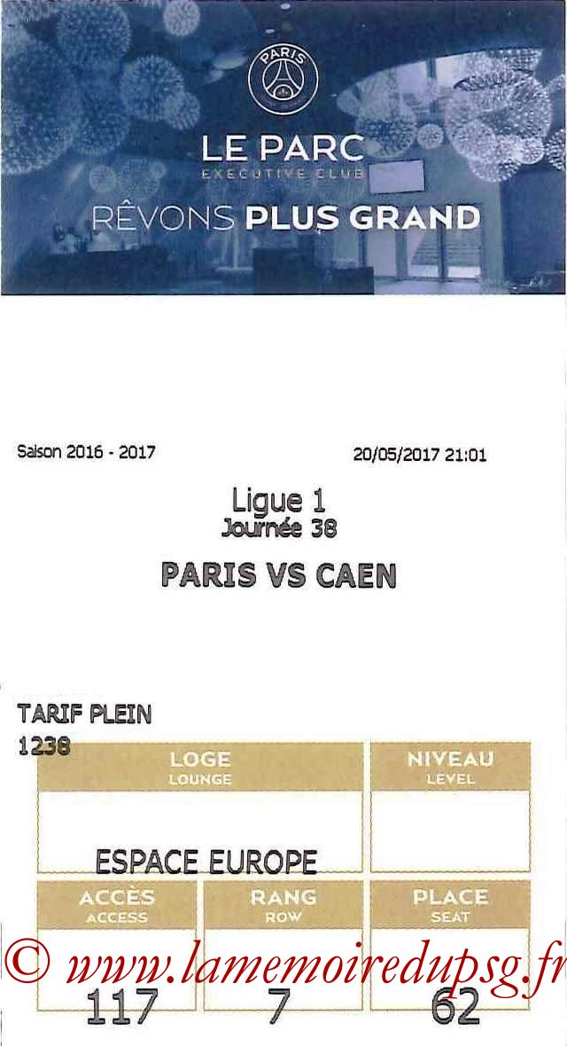 2017-05-20  PSG-Caen (38ème L1, E-ticket Executive Club bis)