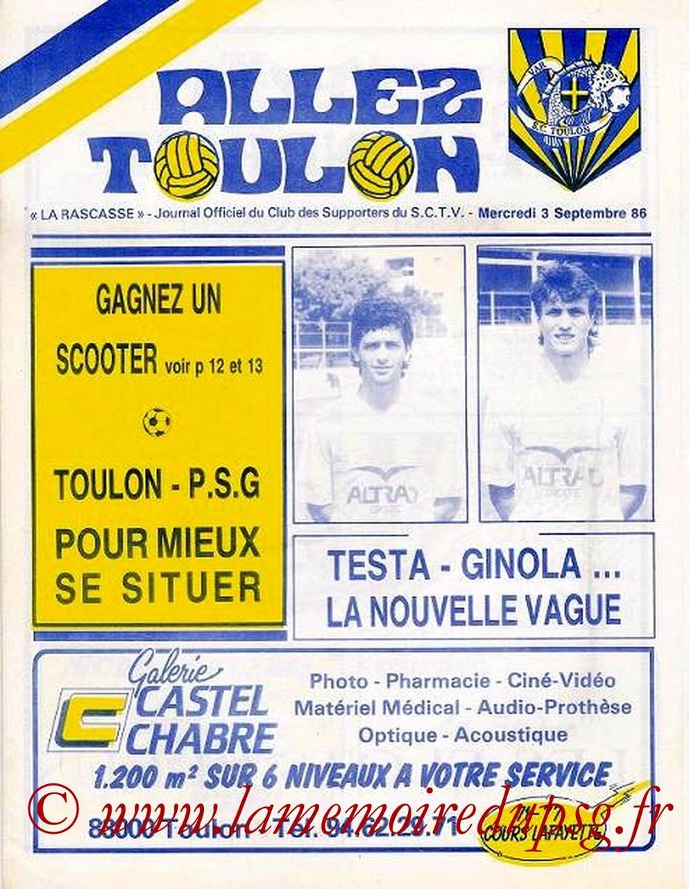 1986-09-03  Toulon-PSG (8ème D1, Allez Toulon)
