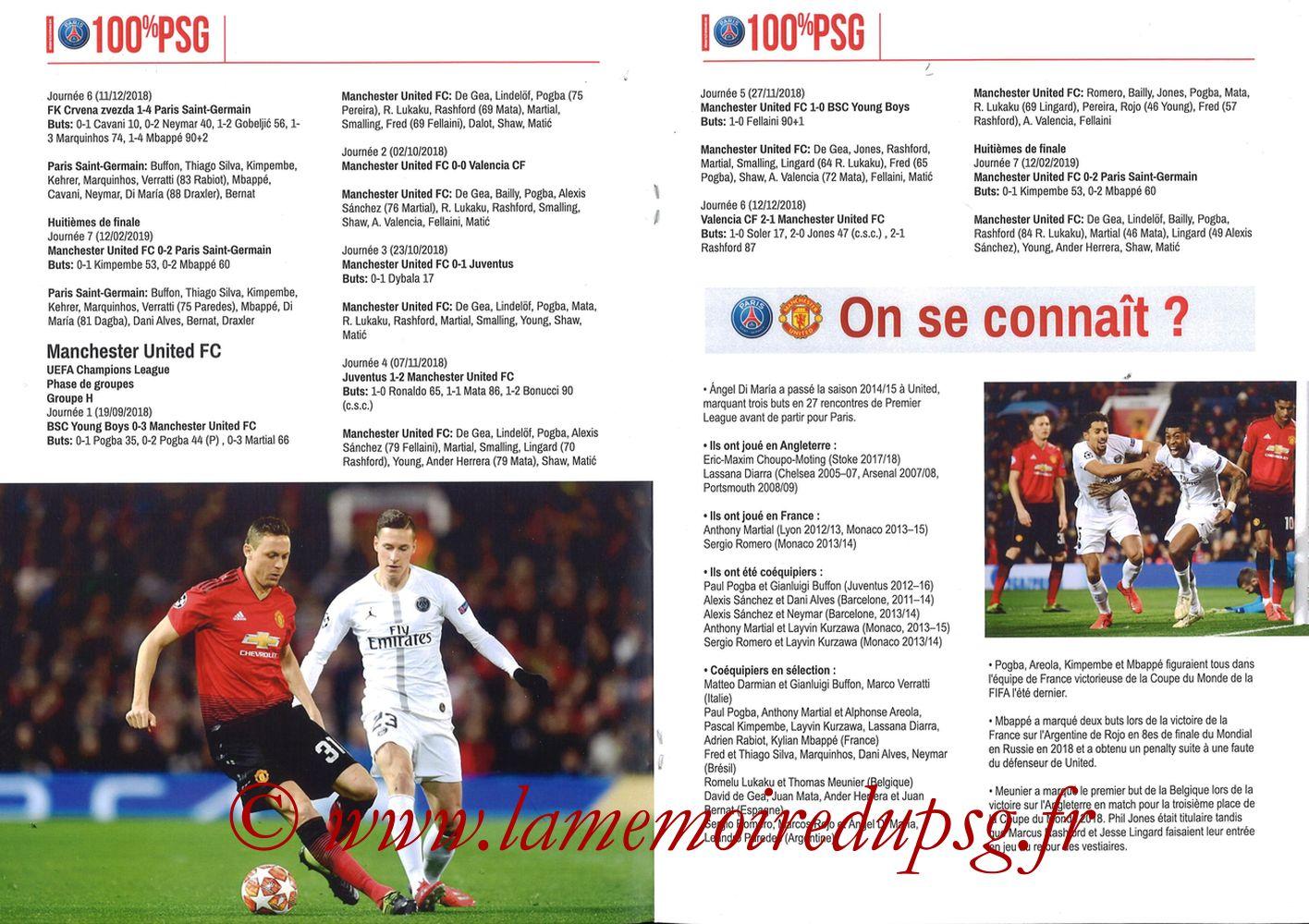 2019-03-06  PSG-Manchester United (8ème Retour C1, 100% PSG N° 181) - Pages 06 et 07