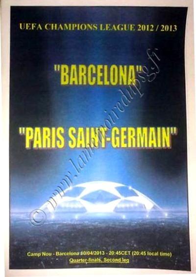 2013-04-10  FC Barcelone-PSG (Quart Finale Retour C1, Programme pirate édition Ukraine)