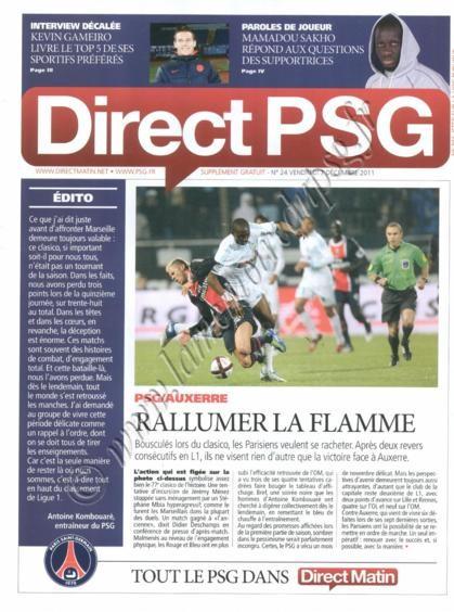 2011-12-04  PSG-Auxerre (16ème L1, Direct PSG N°24)