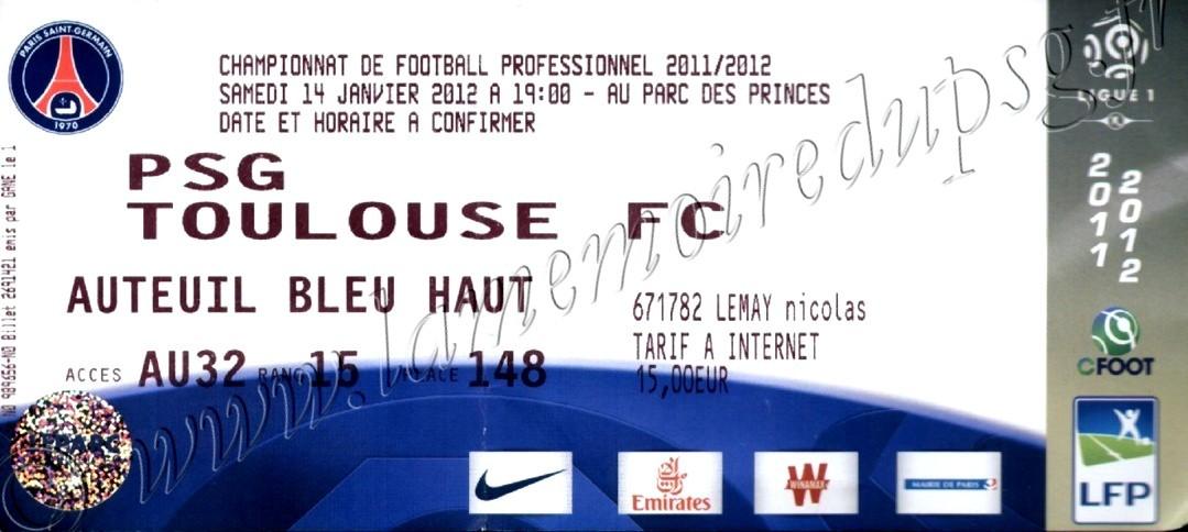 2012-01-14  PSG-Toulouse FC (20ème L1)