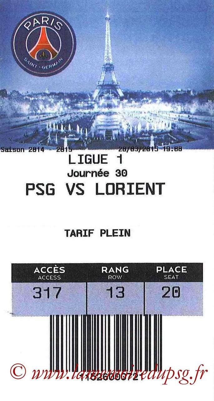 2015-03-20  PSG-Lorient (30ème L1, E-ticket)