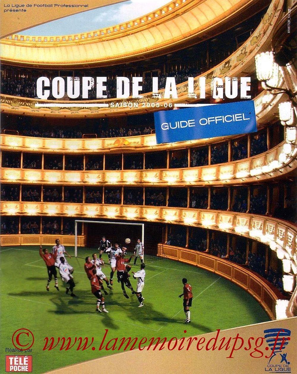 2005-10-26  PSG-Troyes (16ème Finale CL, Programme officiel LFP)