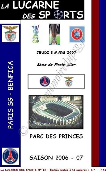 2007-03-08  PSG-Benfica (8ème Finale Aller C3, La Lucarne des Sports N° 13)
