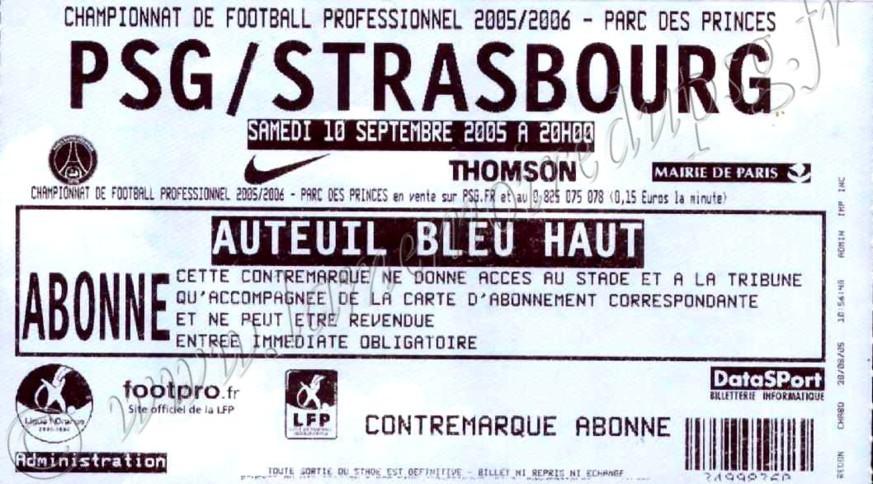 2005-09-10  PSG-Strasbourg (6ème L1)